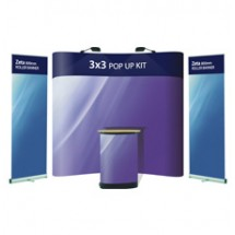 Advantage 3x3 + 2 x Zeta Banner Stands - Display Kit