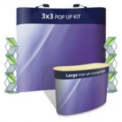Advantage 3x3 + Large Counter + 2 x Zeta + 2 x Lit Holders - Display Kit