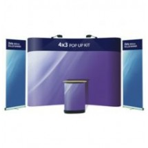 Advantage 4x3 + 2 x Zeta Banner Stands - Display Kit