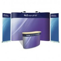 Advantage 4x3 + Large Counter + 2 x Zeta Banner Stands - Display Kit