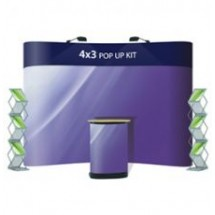 Advantage 4x3 + 2 x Literature Holders - Display Kit