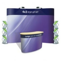 Advantage 4x3 + Large Counter + 2 x Literature Holders - Display Kit