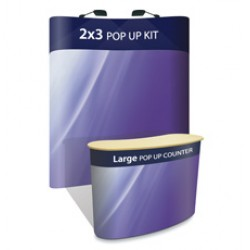 Comet 2x3 + Large Pop-up Counter - Display Kit