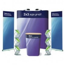 Advantage 3x3 + 2 x Literature Holders - Display Kit