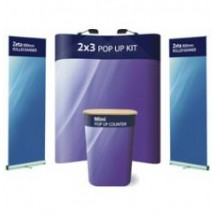 Comet 2x3 + 2 x Zeta Banner Stands - Display Kit