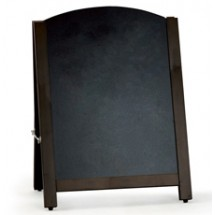 Rounded Wooden Chalkboard - Pavement Sign
